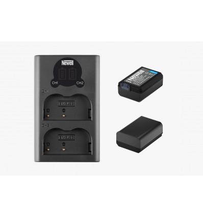 Newell cargador doble + 2 baterías NP FW50