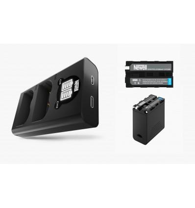 Newell cargador doble + 2 baterías NP-F970