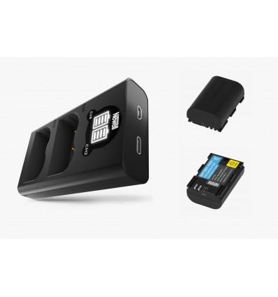 Newell cargador doble + 2 baterías LPE6N