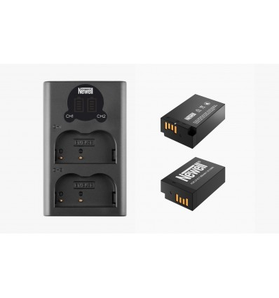Newell cargador doble + 2 baterías LPE17