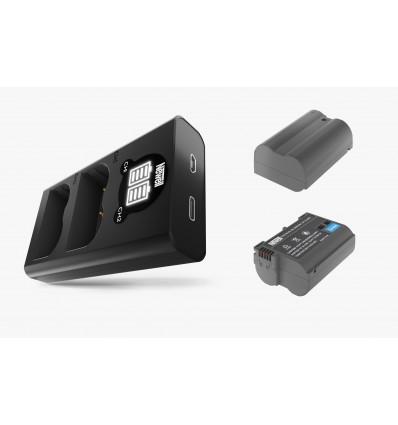 Newell cargador doble + 2 baterías EL15B