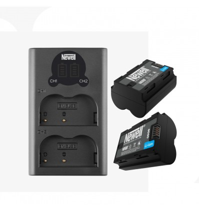 Newell cargador doble + 2 baterías NP-W235