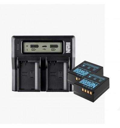 Newell cargador doble + 2 baterías BLH-1