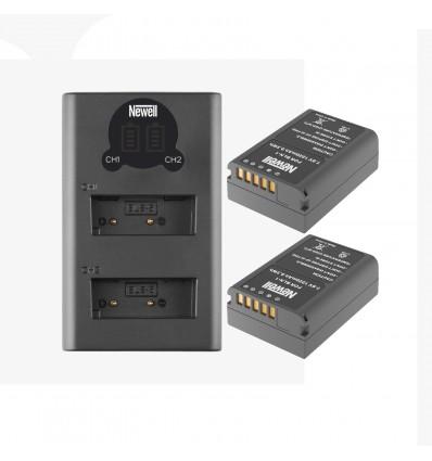 Newell cargador doble + 2 baterías BLN-1