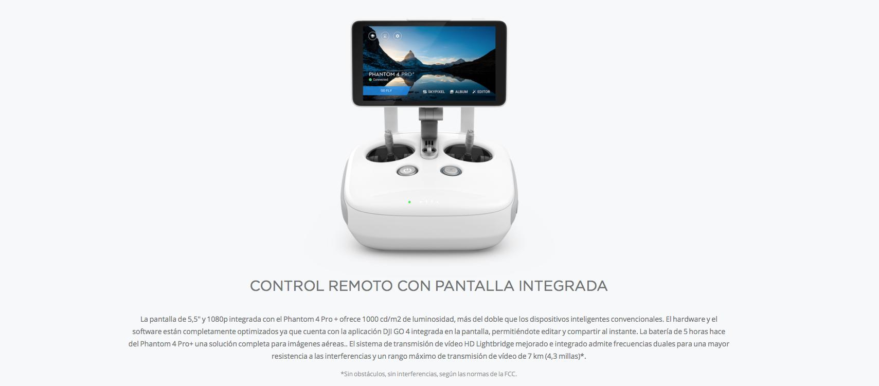 Control remoto con pantalla integrada