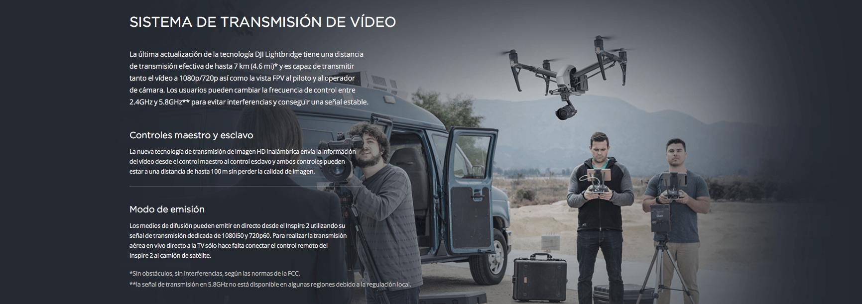 Sistema de transmisión de vídeo DJI INSPIRE 2