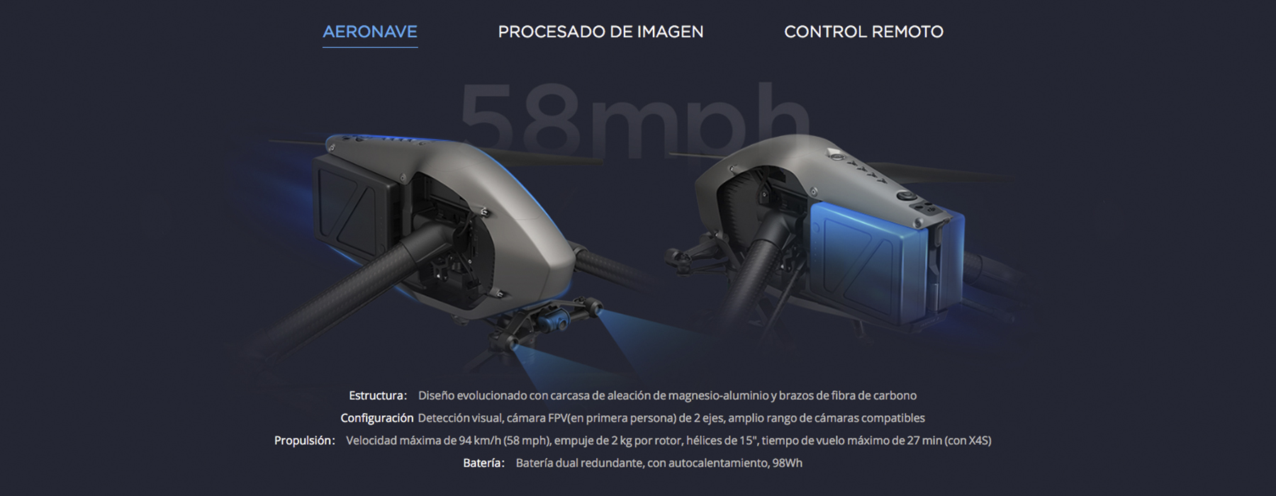 Aeronave DJI INSPIRE 2